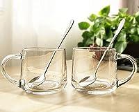 generic 大容量ネット赤いガラスカップミルクカップホームコーヒーシンプルカップ朝食カップ高温強化ガラス-Style13