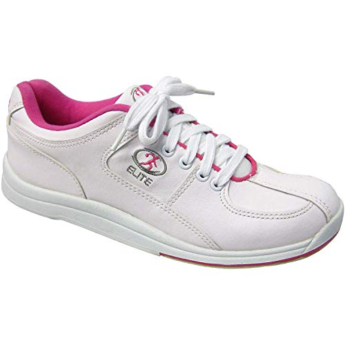 Elite Ariel Pink Women's Bowling Shoes - Quality & Comfortable - Universal Slide Sole for Left & Right Handed Bowlers (Size 6.5)
