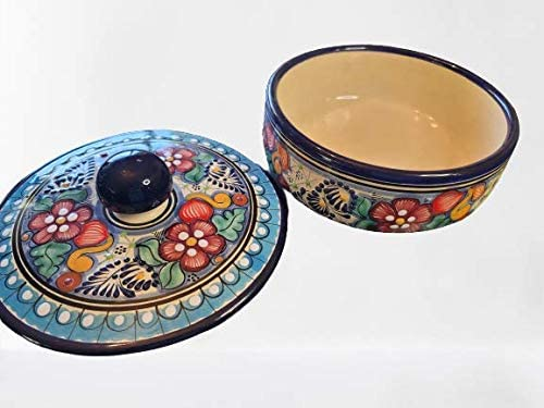 AUTENTIC Daily bargain sale MEXICAN TALAVERA CERAMIC TORTILLA LID Factory outlet WARMER BOWL WITH