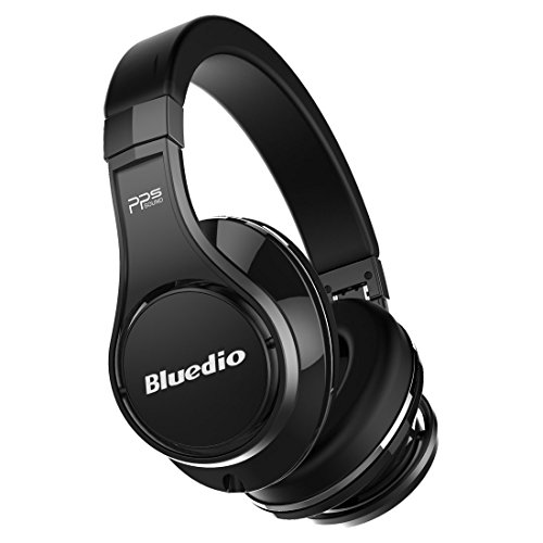 Bluedio U (UFO) PPS 8 Drivers High-End Bluetooth headphones Revolution/3D Sound Effect/Aluminum alloy build/Hi-Fi Rank wireless&wired Over-Ear headsets with carrying hard case Gift-package(Pure Black)