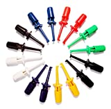 BrightTea 8pairs Mini SMD Ic Single Hook Clip Grabbers Test Probe Cable for Multimeter Wire Lead (16pieces packger)