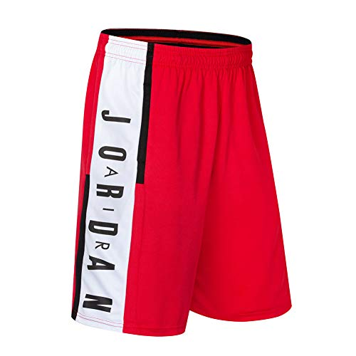 NNLX Pantaloncini da Basket da Uomo Bulls Jordan # 23 - Corsa Sportiva e Fitness Casual Pantaloncini Elastici con Tasche M-3XL-Red-L