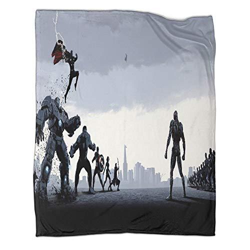 Manta de forro polar súper suave de Avengers Heroes Working Together Movie Captain America Iron Man, 180 x 230 cm, diseño de moda, para oficina, aire acondicionado, almuerzo, descanso, manta, manta