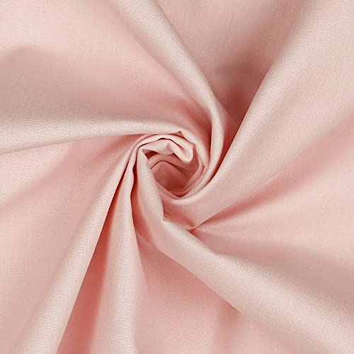 babrause® Baumwollstoff uni rosa Webware Meterware Popeline OEKOTEX 150cm breit - Ab 0,5 Meter