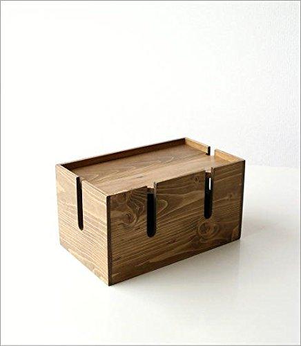 ギギliving『ウッドケーブルボックス』
