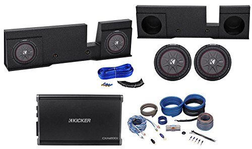 """10"""" Kicker Subwoofers+Amplifier+Sub Enclosure for 04-08 Ford F150 Xcab SuperCrew"""