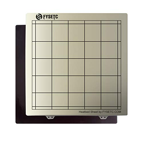 Toaiot Spring Steel Build Plate for CR-10 10S Pro CR-X MP Maker Pro 3D Printer 3D Printing Sheet Bed Steel Plate 310x310mm/ 12.2x12.2 inch with PEI + Magnetic Sticker B Surface Printing Hotbed Parts