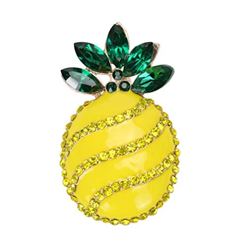 ABOOFAN 1PC Hawaii Pineapple Breastpin Creative Women Brooch Unique Brooch Pin Costume Props Decoration Small Gift for Party Banquet Party Favor