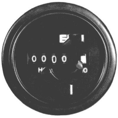 ENM Company T18BG52BC , Hour Meter, 2.3 in. Round, Stainless Steel, .3-.6W, 115 VAC, AC, leads, 5 digit