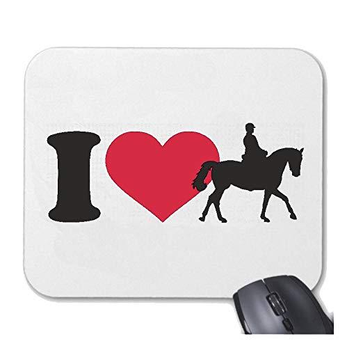 Helene Mousepad - Muismat I Love Dressur REITEN - Paardrijden - Paarden - ruiter voor uw laptop, notebook of Internet PC