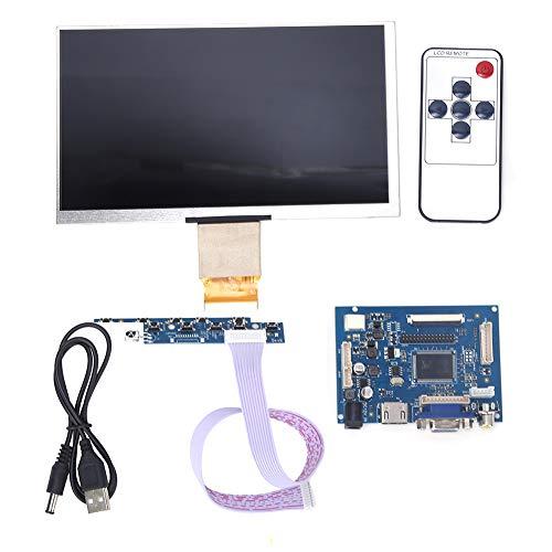 SANON Pantalla LCD Tft de 7 Pulgadas 1024 * 600 Kit de Pantalla de Monitor Hdmi Vga para Raspberry Pi 3/2 Y Pantalla de Computadora