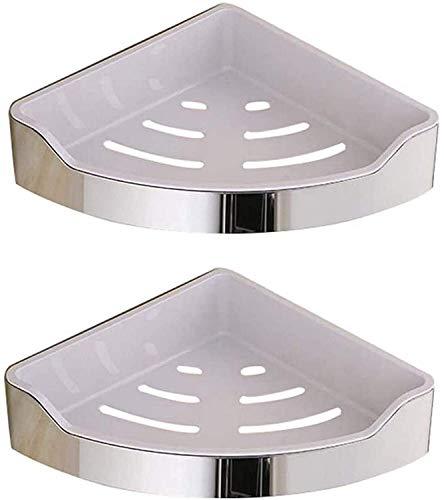 CMMT Estantes de Esquina de Almacenamiento de Ducha de ba?o 304 Cesta de Cocina de Acero Inoxidable Carrito de Ducha Soporte de Pared Triangular, 2 Niveles (Color:1tier) (Color : 2tier)
