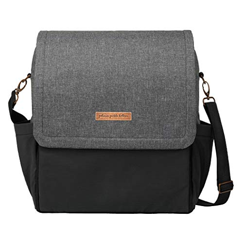Petunia Pickle Bottom | Boxy Diaper Bag Backpack for the modern parent | Baby changing mat & station | Pockets to keep you organized | Multiple carrying options (backpack or cross-body/shoulder) | Graphite/Black