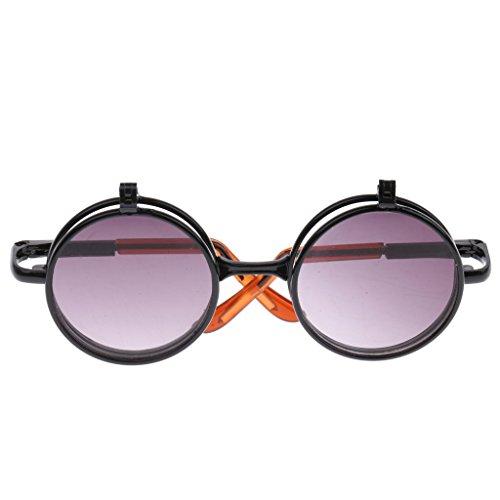 Sharplace 1/6 Mädchen Puppen Doppelt Linsen, Gefaltete Gläser Sonnenbrille Puppenbrille - # 20