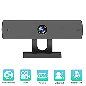 Webcam with Microphone, 1080P HD Webcam Streaming Computer Web Camera -USB Computer Camera for PC Laptop Desktop Video Calling,Conferencing