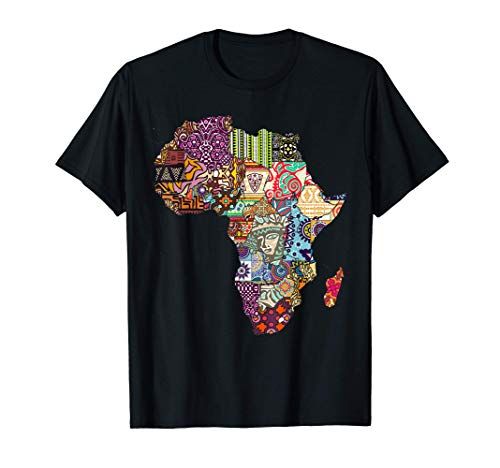 Diseño de mapa orgullo de África de patrón étnico Africa