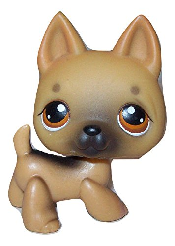 LPS Littlest Pet Shop Rare Brown Tan German Shepherd Orange Brown Eyes #61 Replacement Part Loose/Packaged in Parts Bag
