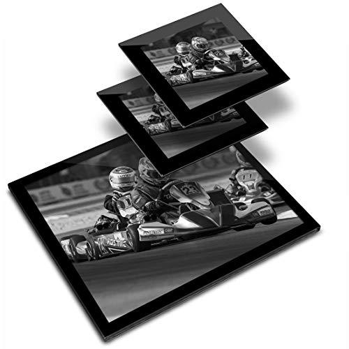 Destination - Mantel individual de vinilo (cristal, 20 x 25 cm, 2 posavasos de 10 x 10 cm), diseño de Kart