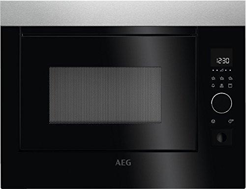 AEG MBE2658D-M Intégré Micro-onde combiné 26L 900W Noir, Gris - Micro-ondes (Intégré, Micro-onde combiné, 26 L, 900 W, Tactil, Noir, Gris)