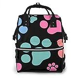 Wickeltasche für Hunde und Katzen, Pfotenabdruck, modisch, wasserdicht, multifunktional, Reiserucksack, große Windeltaschen, Mumienrucksack für Babypflege
