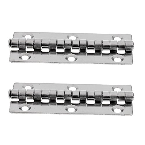 Sharplace 2X Bisagra Piano de Acero Inoxidable para Cubierta Cabina de Barco