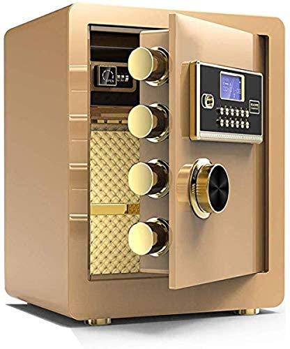 Kluizen voor thuis Elektronische 3-lades Antidiefstalsysteem Kluis Spaarpot Kluis Bescherm geld Sieraden Paspoorten Kluis (Maat: 38 * 32 * 45cm)