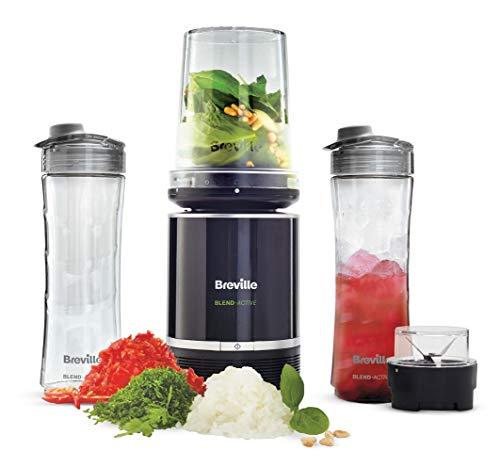 Breville Blend Active Pro Food Prep Persönlicher Mixer mit Mini-Küchenmaschine und Gewürzmühle VBL212
