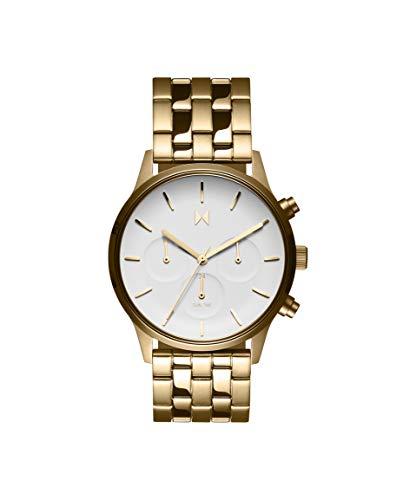 MVMT Damen Analog Quarz Uhr mit Goldfarbener Edelstahl Armband 28000062-D