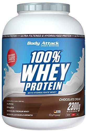 Body Attack 100% Whey Protein, Chocolate Cream, 2,3kg Dose Eiweißpulver