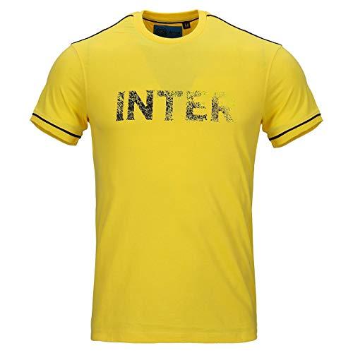 Inter T-Shirt Uomo Girocollo Manica Corta in Jersey, Giallo, XL