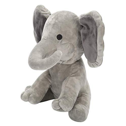 Knuffel, Schattige Olifant Knuffels Bedtijd Originelen Zachte Knuffeldier Voor Baby Kinderen Verjaardagscadeau 25cm grijs