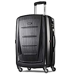 in budget affordable Samsonite Winfield Hardtop expandable suitcase with two wheels, matt anthracite, …