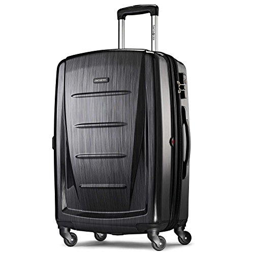 Samsonite Winfield 2 Hardside Expandable Luggage with Spinner Wheels, Brushed Anthracite, Checked-Medium 24-Inch