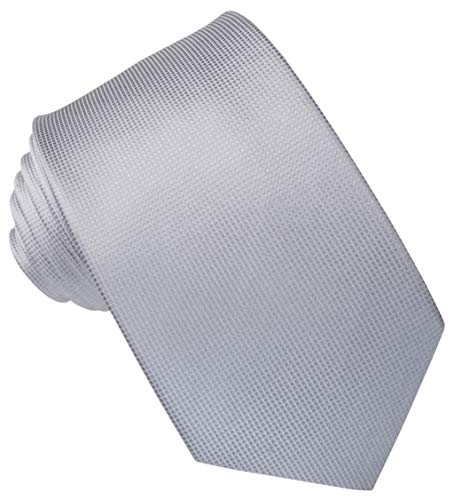 JOSVIL Corbata de Seda Gris Perla