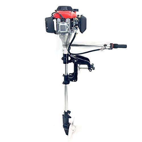 EWANYO 2.5HP Outboard Motor 4 Stroke 54CC Boat Engine Heavy Duty Outboard Motor Boat Engine W/Water Air Cooling System