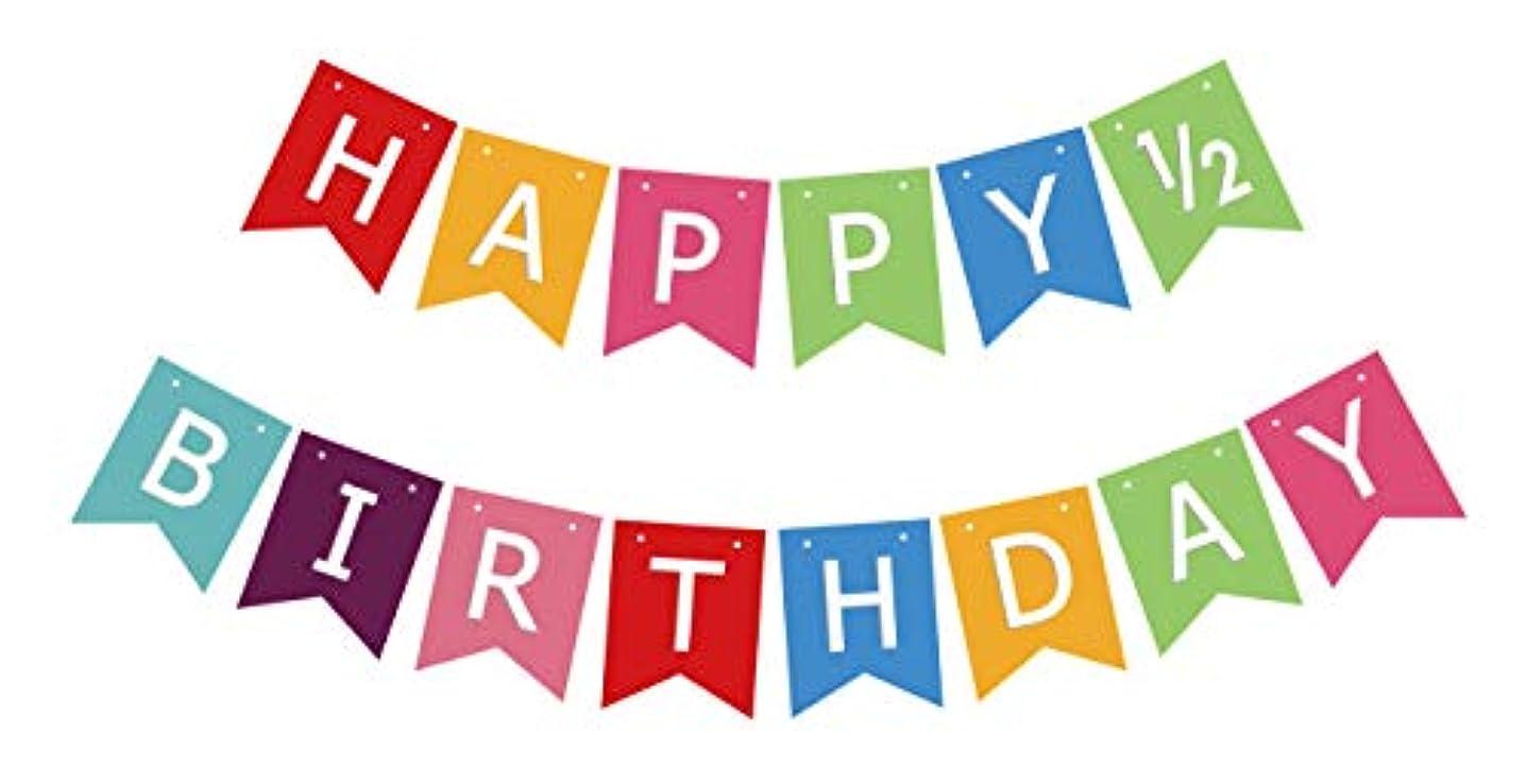 Half Birthday Banner, Happy Half Birthday Sign, Boy Girl 6 Months 1/2 Bday Party Bunting Decoration