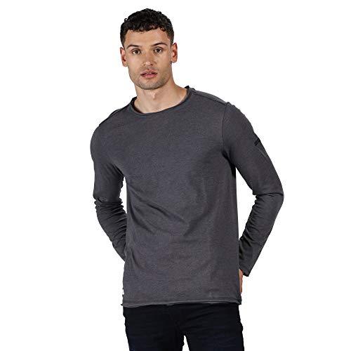 Regatta T- Shirt Manches Longues en Coton Organique écologique Karter II Polos/Vests Homme, Seal Grey, FR : 3XL (Taille Fabricant : XXXL)