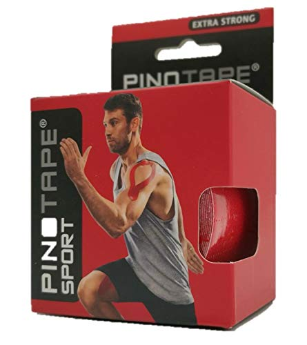 Pinotape Pro Sport Rot - kinesiologisches Tape 5 cm x 5 m- (Rot)