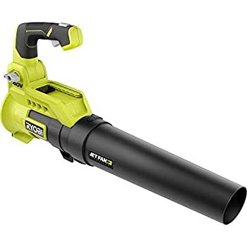 RYOBI 110 MPH 525 CFM 40-Volt Lithium-Ion Cordless Variable-Speed Jet Fan Bare Tool Leaf Blower Battery and Charger Not Included