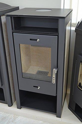 Estufa de leña 9–12kW de combustible sólido bajo las emisiones cerámica forro DIN Plus