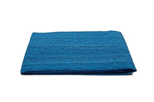 HomeLife Colcha individual primaveral de verano de color liso [180 x 260] Made in Italy   Colcha cama individual de algodón jacquard   Sábana bajera individual ligera   1P azul
