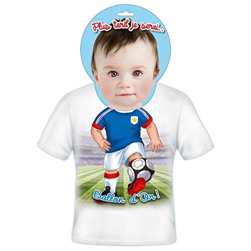 T-shirt Enfants Plus tard je serais Ballon d'or 4 ans