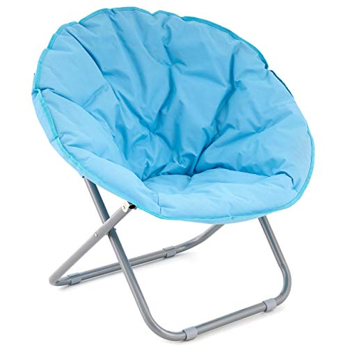 Nexos Campingsessel Campingstuhl Moonchair Angelsitz Faltstuhl blau Stahlgestell stabiles Polyestergewebe klappbar B-Ware mit leichten Mängeln