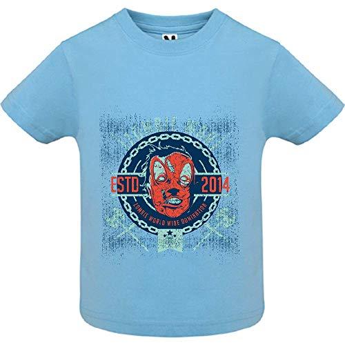 LookMyKase T-Shirt - Zombie War - Bébé Garçon - Bleu - 18mois