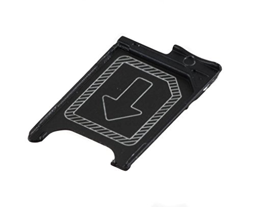ICONIGON Reemplazo para Xperia Z3, Z3 Compact SIM Card Tarjetas Soporte (Negro)