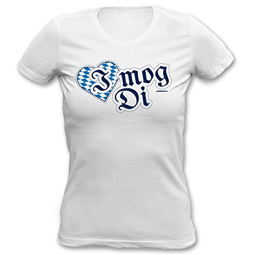 Sexy Damen T-Shirt fürs Volksfest - I mog Di - Bayerischer Spruch mit Herz, perfekt fürs Oktoberfest, Wiesn