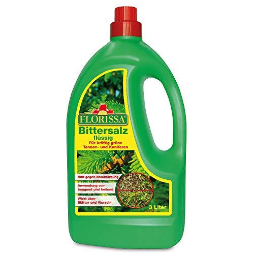 Florissa Bittersalz flüssig | Magnesiumsulfatlösung für kräftig-grüne Tannen und Koniferen | sofort einsetzbare Fertiglösung hilft gegen Braunfärbung, Farblos