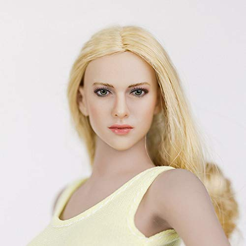 ZSMD - Figura coleccionable 1/6 Scale Sexy European Beauty Head Sculpt Carving KT004 KT005 KT006 KT007 KT008 para 12 pulgadas Suntan Action Figure
