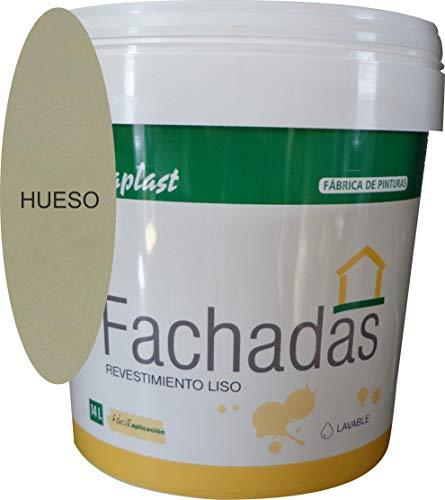 PINTURA FACHADAS COLORES Durcaplast: Revestimiento de fachadas colores mate. Extraordinaria resistencia al roce, máxima resistencia a la intemperie y al envejecimiento. (4L, HUESO 1)