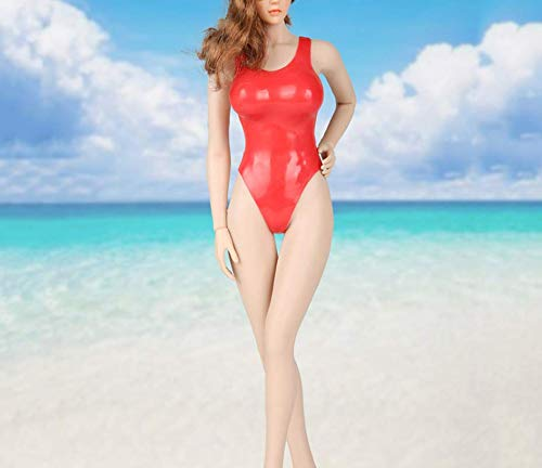 Kleding Model 1/6 Schaal Meisje Kleding Model Speelgoed Rode Bikini Kleding Set voor 12